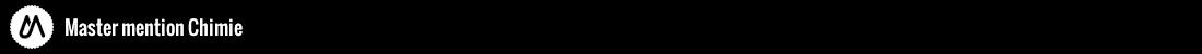 Master chimie Logo